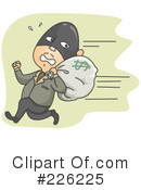 Royalty-Free (RF) robber Clipart Illustration #226225