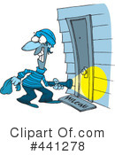 Royalty-Free (RF) robber Clipart Illustration #441278
