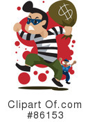 Royalty-Free (RF) Robber Clipart Illustration #86153