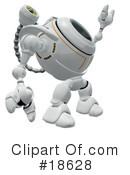 Royalty-Free (RF) Robo Cam Clipart Illustration #18628