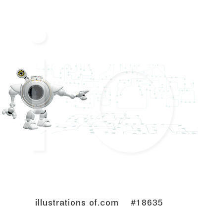 Royalty-Free (RF) Robo Cam Clipart Illustration by Leo Blanchette - Stock Sample #18635