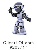 Royalty-Free (RF) Robot Character Clipart Illustration #209717
