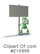 Royalty-Free (RF) Robot Character Clipart Illustration #210965