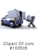 Royalty-Free (RF) Robot Clipart Illustration #103505