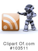 Royalty-Free (RF) Robot Clipart Illustration #103511