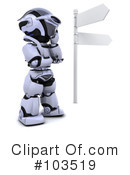 Royalty-Free (RF) robot Clipart Illustration #103519