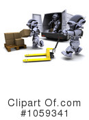 Robot Clipart #1059341 by KJ Pargeter