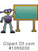 Royalty-Free (RF) robot Clipart Illustration #1069202