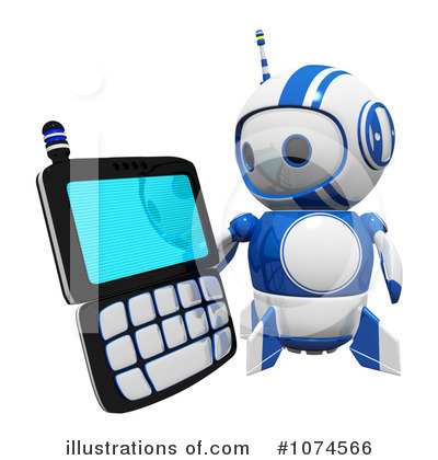 Robot Clipart #1074566 by Leo Blanchette