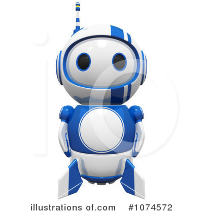 Robot Clipart #1074572 by Leo Blanchette