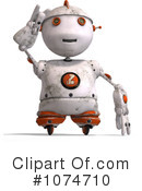 Royalty-Free (RF) robot Clipart Illustration #1074710