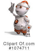 Royalty-Free (RF) robot Clipart Illustration #1074711