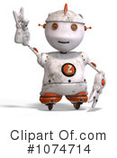 Royalty-Free (RF) Robot Clipart Illustration #1074714