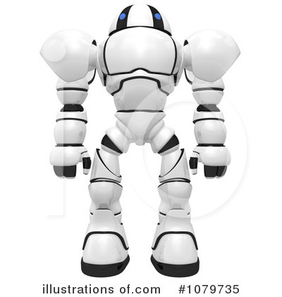 Royalty-Free (RF) Robot Clipart Illustration by Leo Blanchette - Stock Sample #1079735