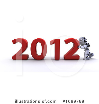 Royalty-Free (RF) Robot Clipart Illustration by KJ Pargeter - Stock Sample #1089789
