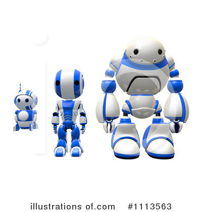 Robot Clipart #1113563 by Leo Blanchette