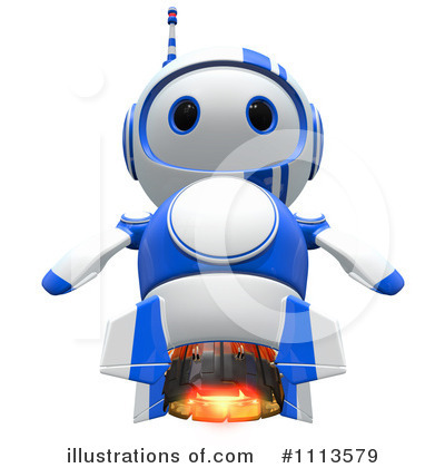 Robot Clipart #1113579 by Leo Blanchette