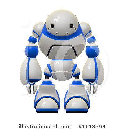 Robot Clipart #1113596 by Leo Blanchette