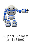 Royalty-Free (RF) robot Clipart Illustration #1113600