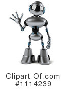 Royalty-Free (RF) Robot Clipart Illustration #1114239