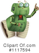 Royalty-Free (RF) Robot Clipart Illustration #1117594