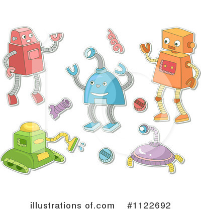 Robot Clipart #1122692 by BNP Design Studio
