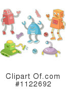 Royalty-Free (RF) Robot Clipart Illustration #1122692