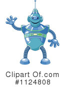 Royalty-Free (RF) Robot Clipart Illustration #1124808