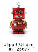 Royalty-Free (RF) Robot Clipart Illustration #1125677