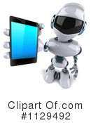 Royalty-Free (RF) robot Clipart Illustration #1129492