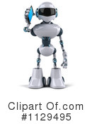 Royalty-Free (RF) Robot Clipart Illustration #1129495