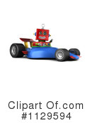 Royalty-Free (RF) Robot Clipart Illustration #1129594