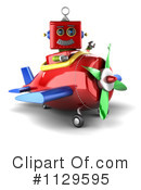 Royalty-Free (RF) robot Clipart Illustration #1129595