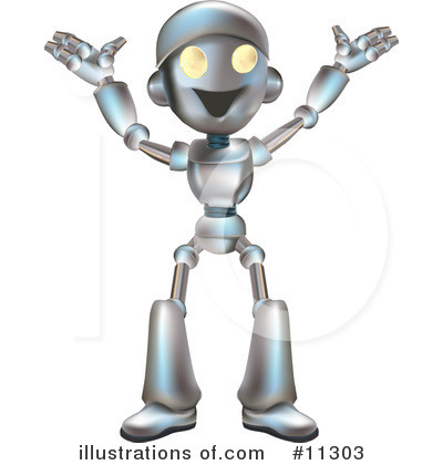Royalty-Free (RF) Robot Clipart Illustration by AtStockIllustration - Stock Sample #11303