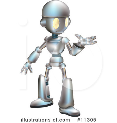 Royalty-Free (RF) Robot Clipart Illustration by AtStockIllustration - Stock Sample #11305