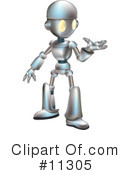 Royalty-Free (RF) Robot Clipart Illustration #11305