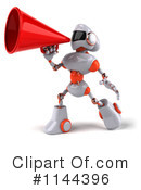 Royalty-Free (RF) Robot Clipart Illustration #1144396