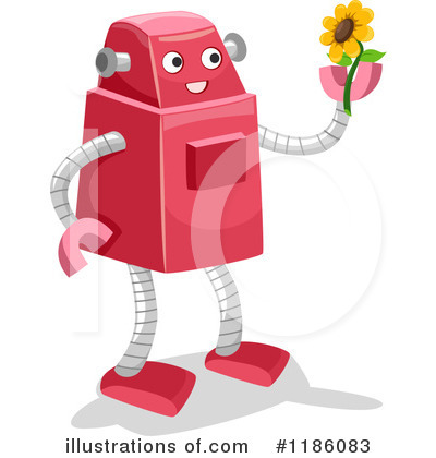 Royalty-Free (RF) Robot Clipart Illustration by BNP Design Studio - Stock Sample #1186083