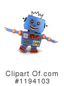Robot Clipart #1194103 by stockillustrations