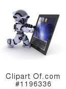 Royalty-Free (RF) Robot Clipart Illustration #1196336
