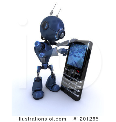 Cell Phone Clipart #1201265 by KJ Pargeter