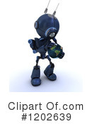 Robot Clipart #1202639 by KJ Pargeter