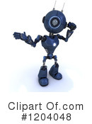 Royalty-Free (RF) Robot Clipart Illustration #1204048