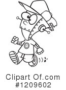Royalty-Free (RF) Robot Clipart Illustration #1209602