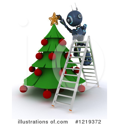 Royalty-Free (RF) Robot Clipart Illustration by KJ Pargeter - Stock Sample #1219372