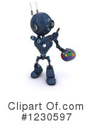 Robot Clipart #1230597 by KJ Pargeter