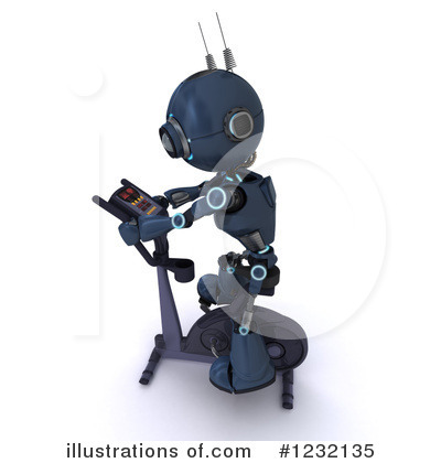 Royalty-Free (RF) Robot Clipart Illustration by KJ Pargeter - Stock Sample #1232135