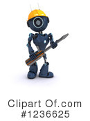 Robot Clipart #1236625 by KJ Pargeter