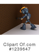 Robot Clipart #1239647 by KJ Pargeter