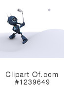 Robot Clipart #1239649 by KJ Pargeter